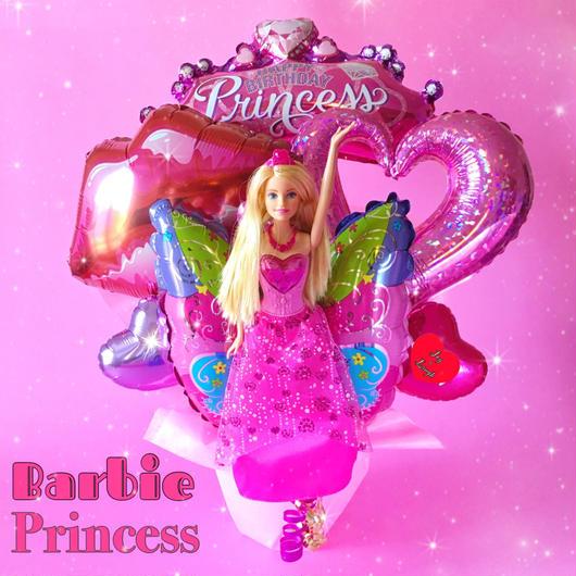 PINK♥Barbieプリンセス♥お誕生日バルーン♥送料無料
