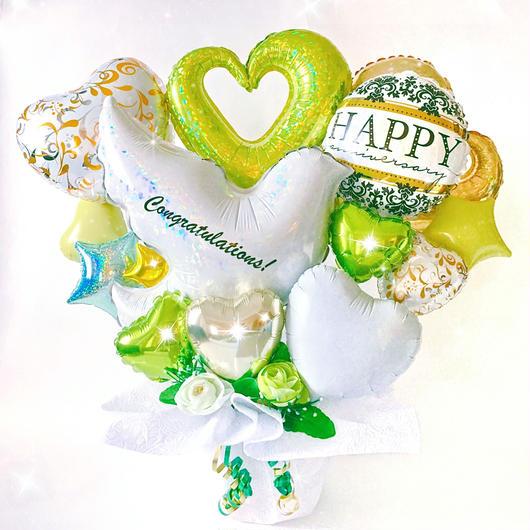 爽やかなホワイトバードアレンジ♡結婚式★開店祝い★様々なお祝い・記念日に♪