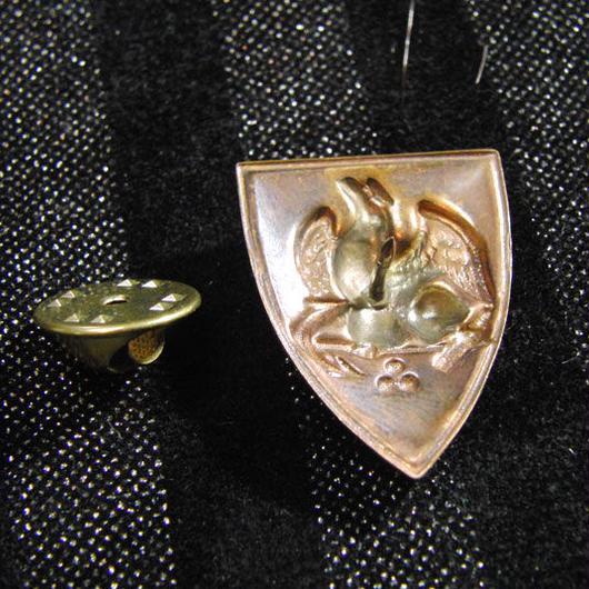 真鍮 鷹エンブレム ハットやバッグにピンズブローチ
