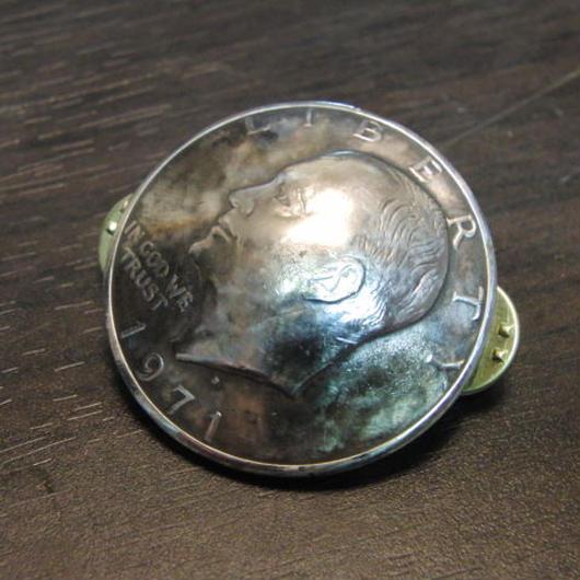 白銅製 アイゼンハワーコイン ハットやバッグにピンズブローチ
