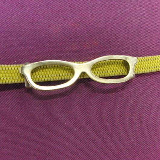 真鍮製 メガネ型の帯留め 着物や浴衣の帯どめ飾りに
