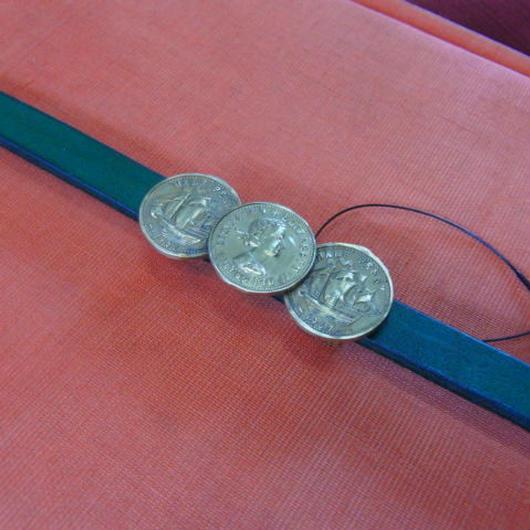 真鍮 コイン型帯どめ 着物や浴衣の帯飾りに