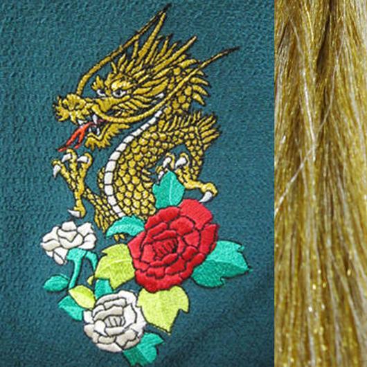 龍と薔薇・金×銀房・長さ105cm