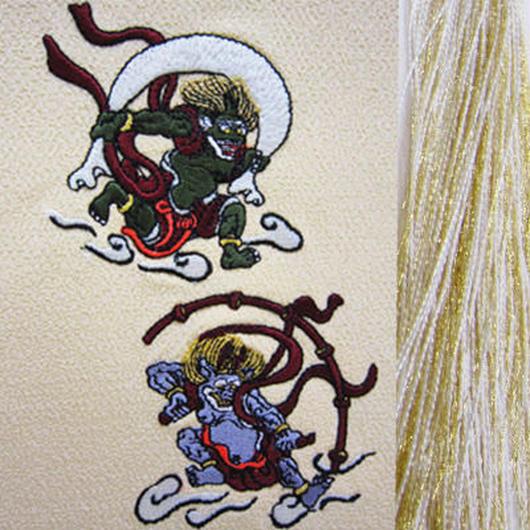 風神雷神・金×白房・長さ105cm