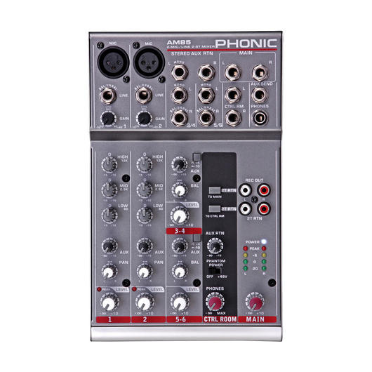 PHONIC(フォニック)AM 85 2-Mic/Line 2-Stereo Compact Mixer