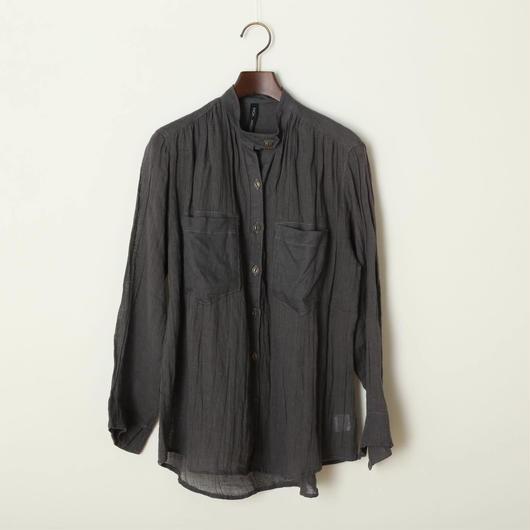 スタンドカラーシャツ/グレー