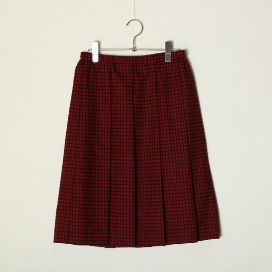 プリーツスカート/ジャガード赤