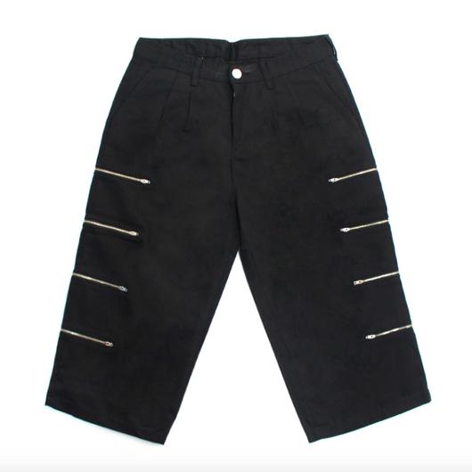 Capri Zipper Detail Pants – Black