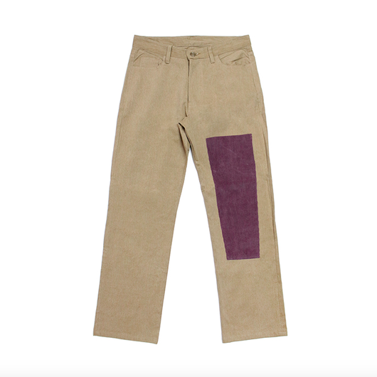 Simple Patchwork Pants – Baige&Purple