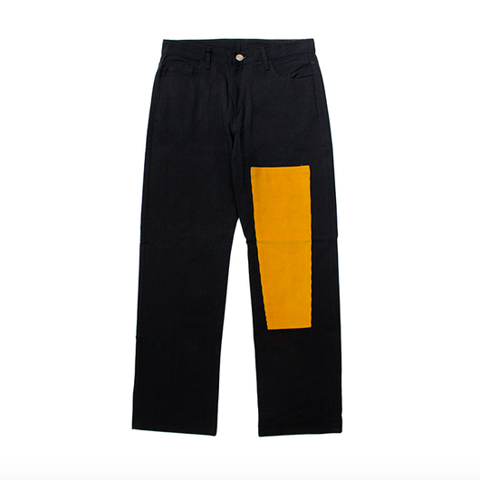 Simple Patchwork Pants – Black&Yellow