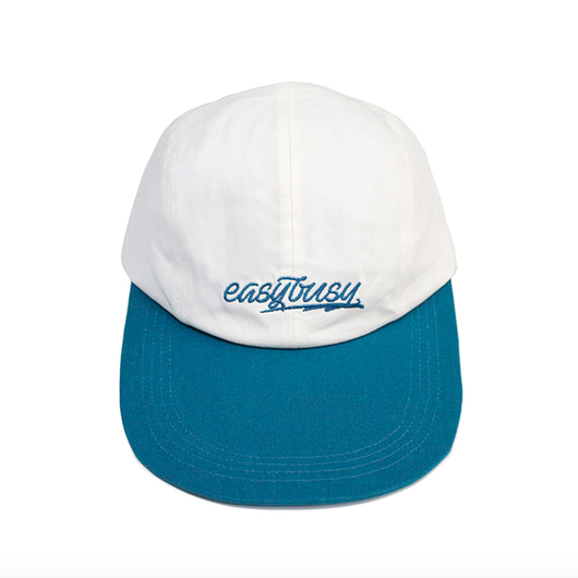 Simple Logo Long Bill Cap – Blue&White