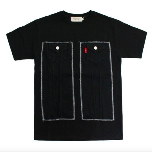 Truker Detail T-Shirts – Black