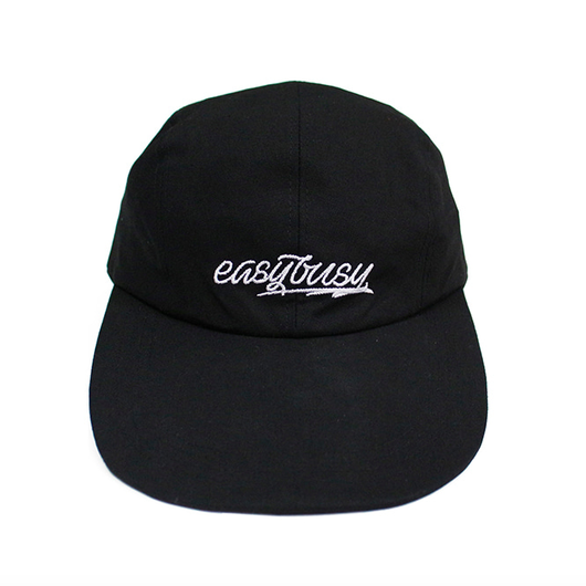 Simple Logo Long Bill Cap – Black