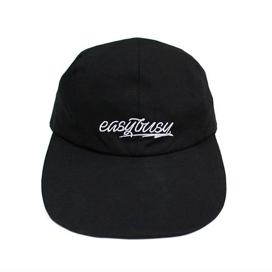 Simple Logo Long Bill Cap – Black