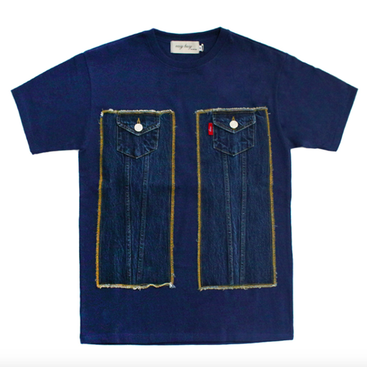 Truker Detail T-Shirts – Blue