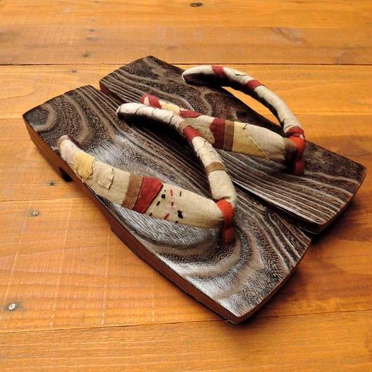 焼杉三味 x vintage indian patchwork
