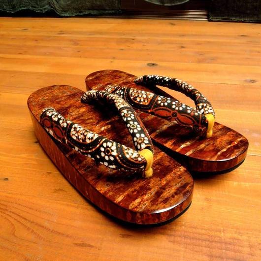 山桜樺舟形 x bali batik