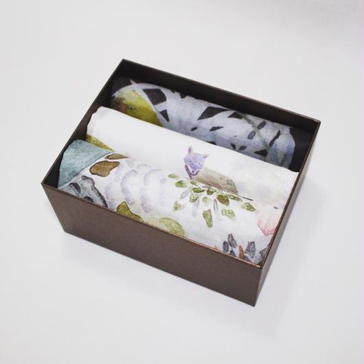Handkerchief gift set '3'        ハンカチギフトセット3枚