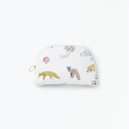 Pouch Fox Round            丸型ポーチ キツネ