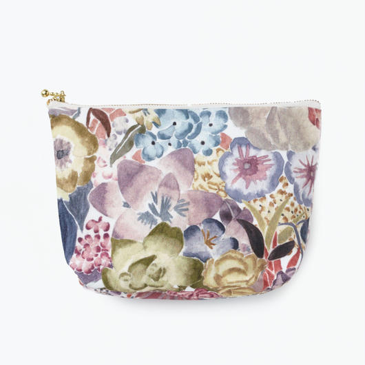 Pouch  Flower  Squre               ポーチ 花柄