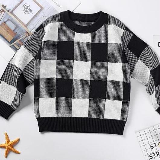 ギンガムチェックセーター