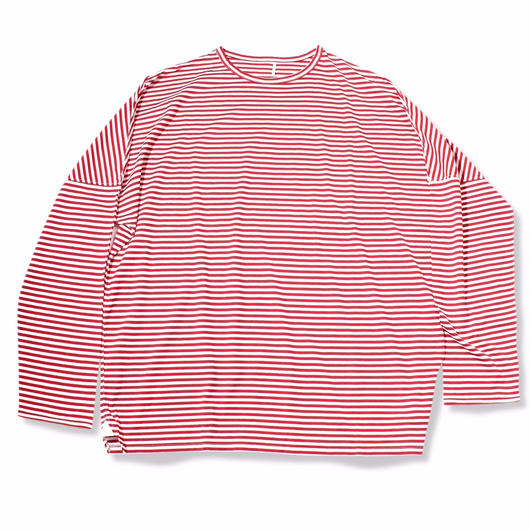 "BORDER DS LONG TEE    ""RED BORDER"""