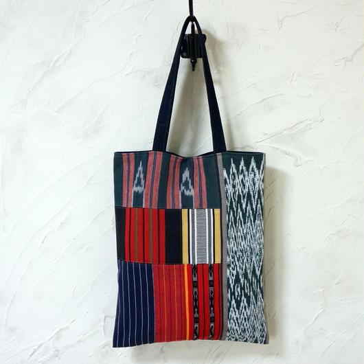 フィリピン織物ミックス A4トート(C)