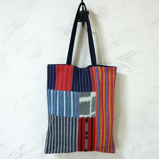フィリピン織物ミックス A4トート(B)
