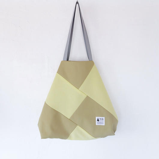 flag bag(ペールイエロー・ベージュ)