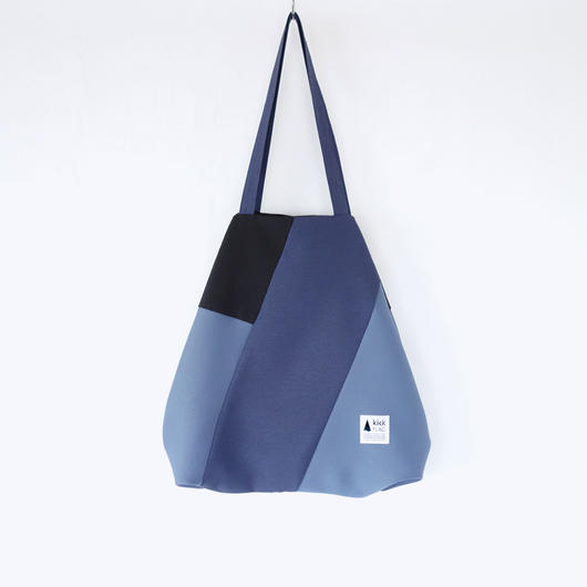 flag bag(ネイビー・ブルーグレー)