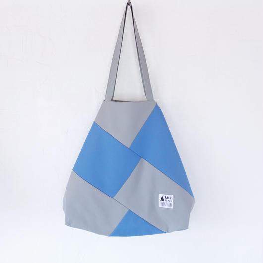 flag bag(グレー・ライトブルー)