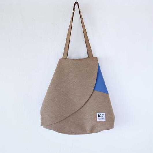 flag bag / ks(ペールブラウン・ブルー)