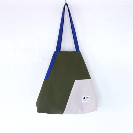 flag bag(カーキ・ペールピンク)
