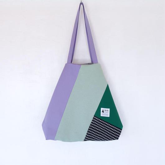 flag bag(パープル・グリーン・ネイビー)