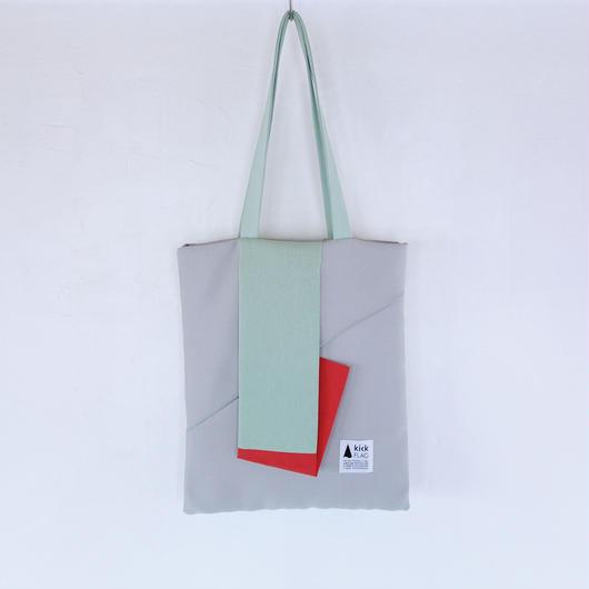 square bag(ペールグリーン・レッド)