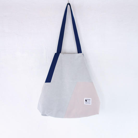 flag bag(ダークブルー・ペールピンク)