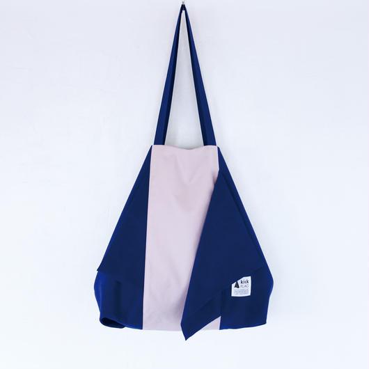 flag bag / ks(ダークブルー・ペールピンク)