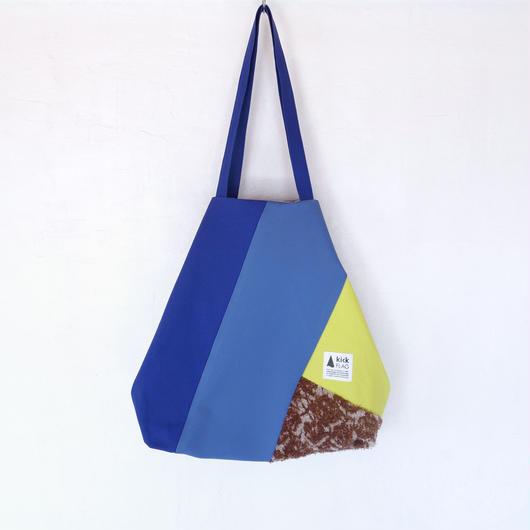 flag bag(ブルー・イエロー・ブラウン)