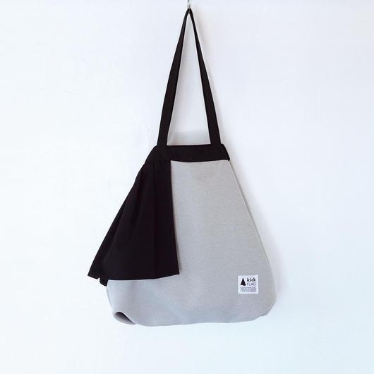 flag bag(ペールグレー・ブラック)