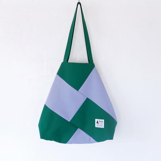 flag bag(グリーン・ペールパープル)