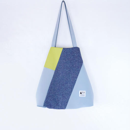 flag bag(ペールブルー・イエロー)