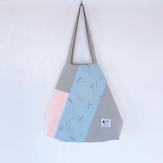 flag bag(グレー・ペールブルー)