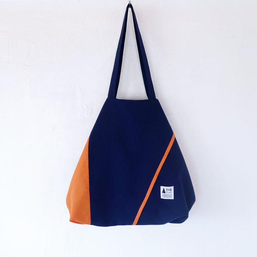 flag bag(ネイビー・オレンジ)