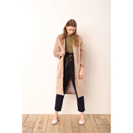 【KiiRA】ECO VELVET FUR COAT/ki-3112