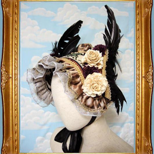 kki.1848  烏の使いヘッドドレス 。