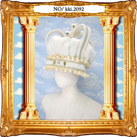 kki.2092 コットンキルティングクラウンHAT。