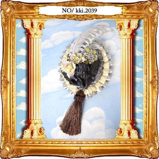 kki.2039 シルバーウィングオーナメントと天使のBIGブローチ。