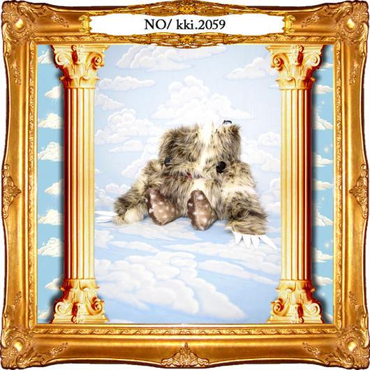 kki.2059 モケモケナニモノちゃんポシェットBAG。