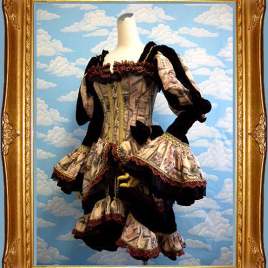 kki.1308 百万円バスクコルセットドレス 。