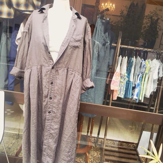【 OMNIGOD 】Linen wide work Dress